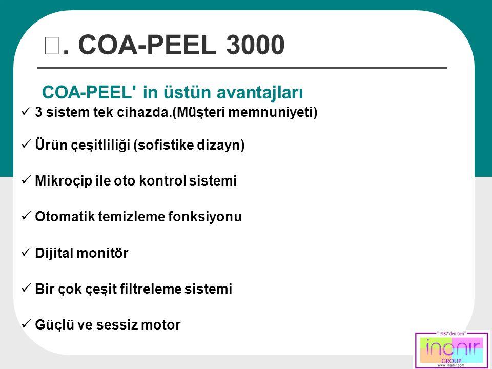 Ⅲ. COA-PEEL 3000 COA-PEEL in üstün avantajları
