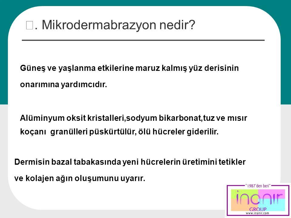 Ⅲ. Mikrodermabrazyon nedir