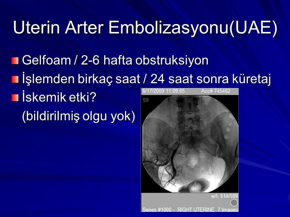 Uterin Arter Embolizasyonu(UAE)
