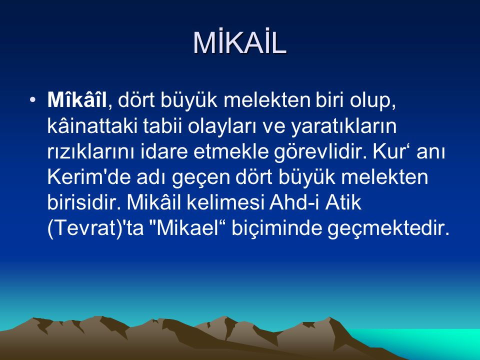 MİKAİL