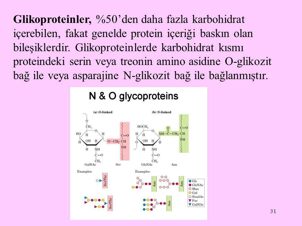 Glikoproteinler, %50'den daha fazla karbohidrat içerebilen, fakat genelde protein içeriği baskın olan bileşiklerdir.