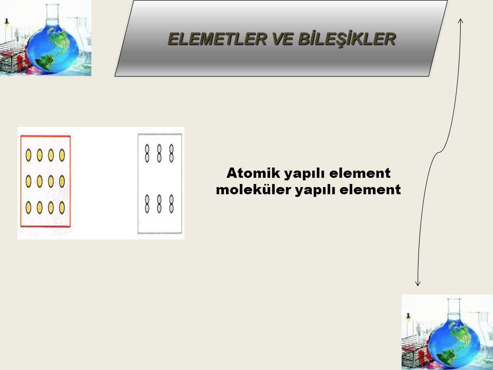 Atomik yapılı element moleküler yapılı element