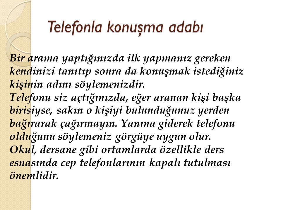 Telefonla konuşma adabı