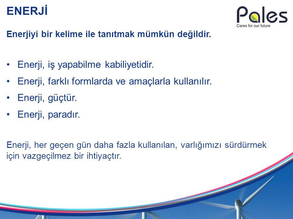 ENERJİ Enerji, iş yapabilme kabiliyetidir.