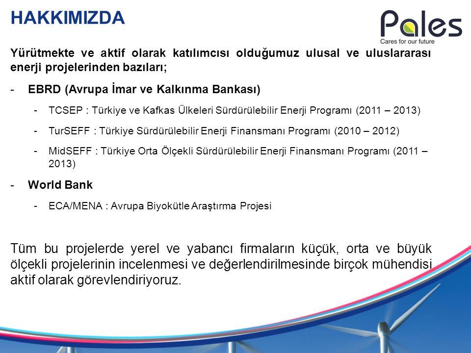 HAKKIMIZDA Yürütmekte ve aktif olarak katılımcısı olduğumuz ulusal ve uluslararası enerji projelerinden bazıları;