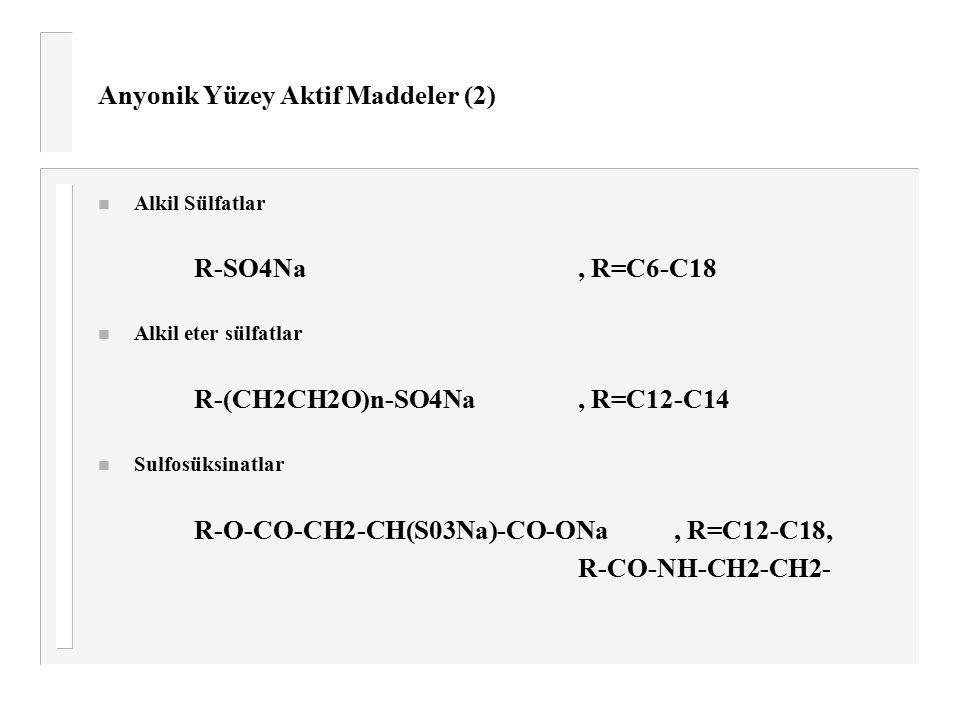 Anyonik Yüzey Aktif Maddeler (2)