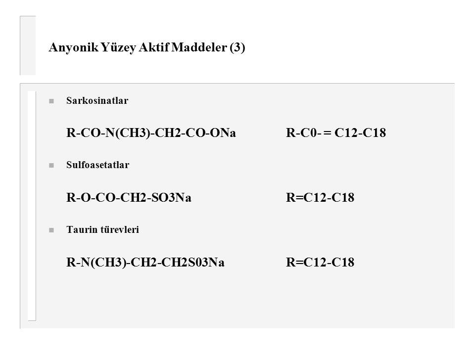 Anyonik Yüzey Aktif Maddeler (3)