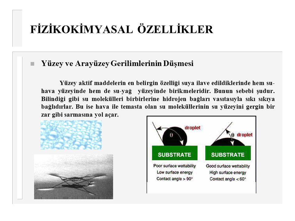FİZİKOKİMYASAL ÖZELLİKLER