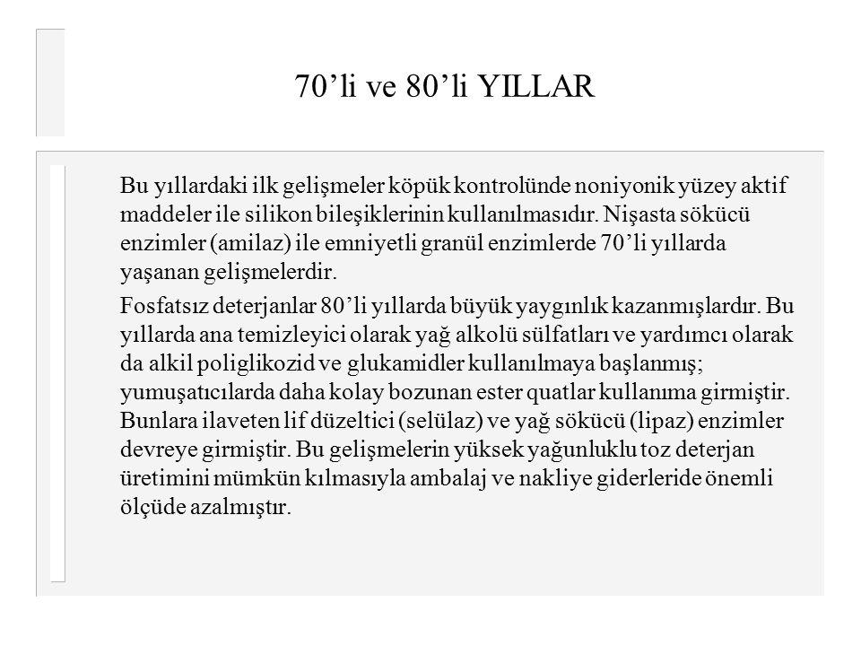 70'li ve 80'li YILLAR