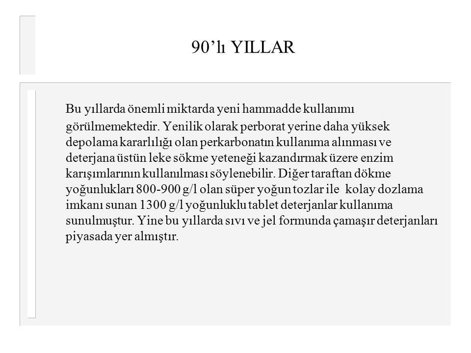 90'lı YILLAR