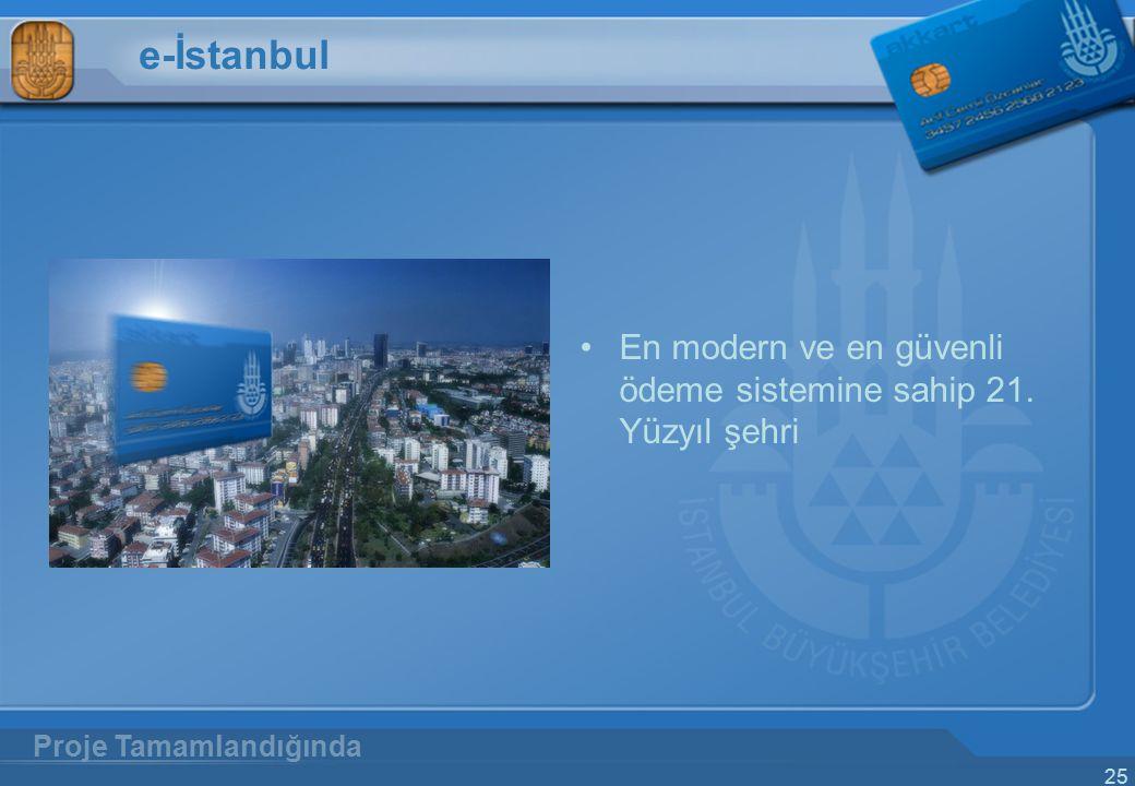 e-İstanbul En modern ve en güvenli ödeme sistemine sahip 21. Yüzyıl şehri Proje Tamamlandığında
