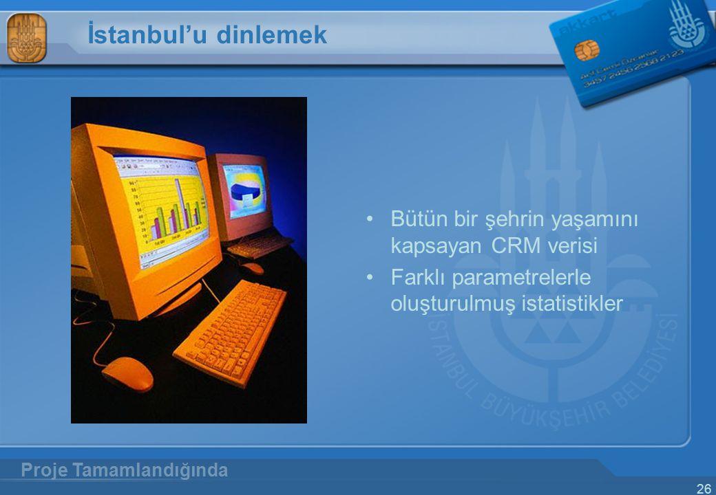 İstanbul'u dinlemek Bütün bir şehrin yaşamını kapsayan CRM verisi