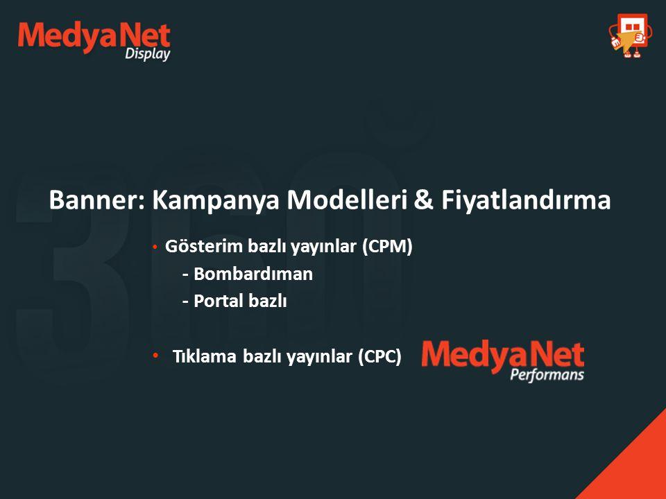 Banner: Kampanya Modelleri & Fiyatlandırma
