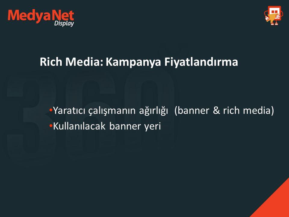 Rich Media: Kampanya Fiyatlandırma