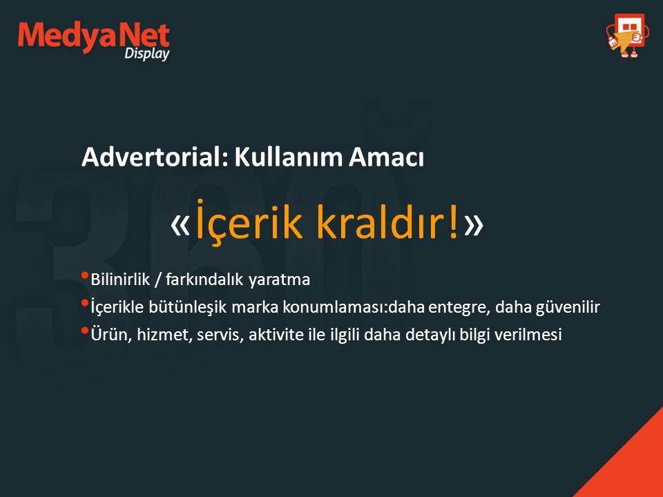 Advertorial: Kullanım Amacı