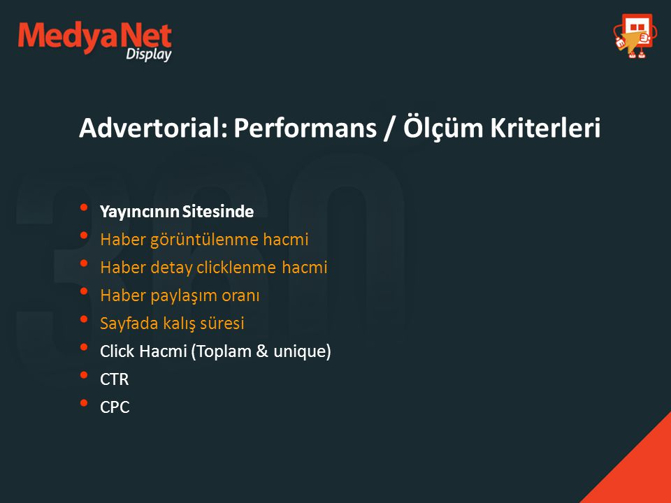 Advertorial: Performans / Ölçüm Kriterleri