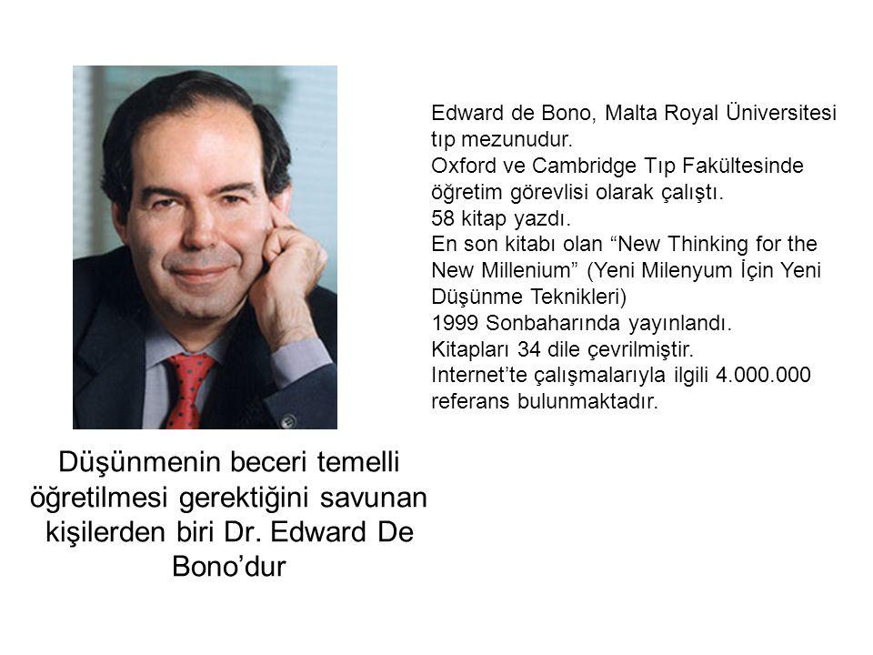 Edward de Bono, Malta Royal Üniversitesi tıp mezunudur.