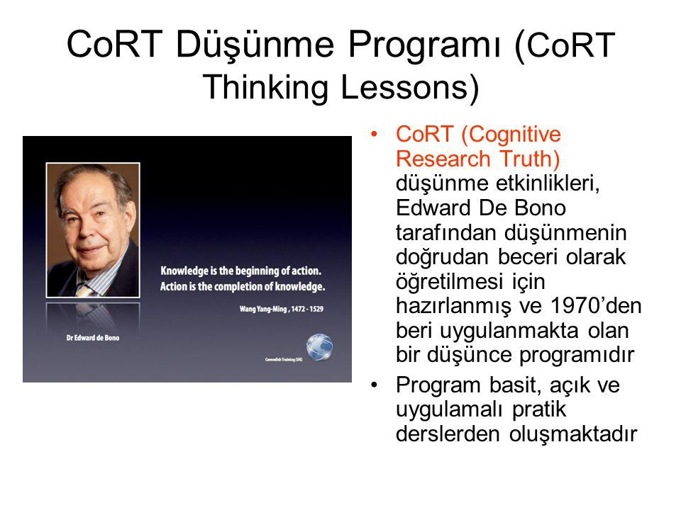 CoRT Düşünme Programı (CoRT Thinking Lessons)