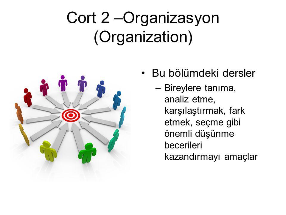Cort 2 –Organizasyon (Organization)