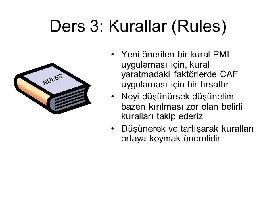 Ders 3: Kurallar (Rules)