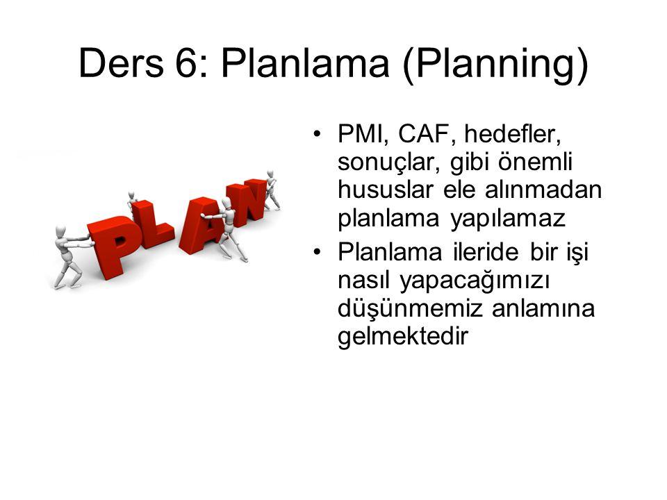 Ders 6: Planlama (Planning)