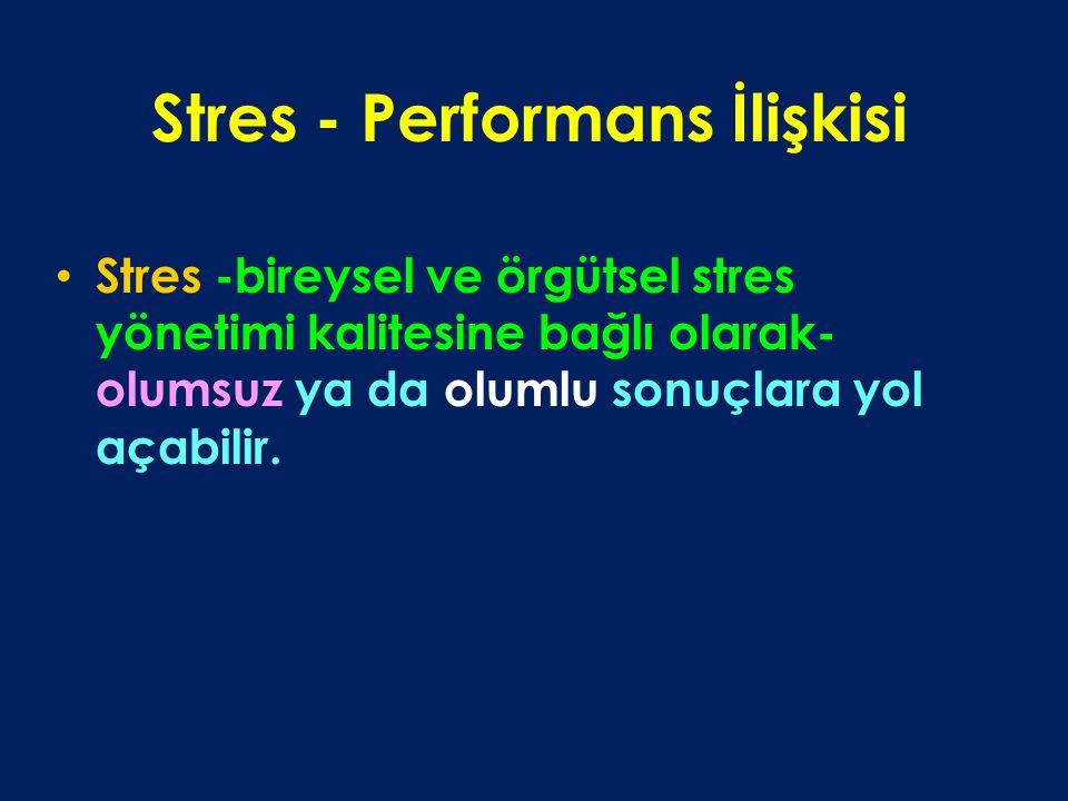 Stres - Performans İlişkisi