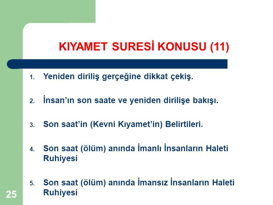 KIYAMET SURESİ KONUSU (11)