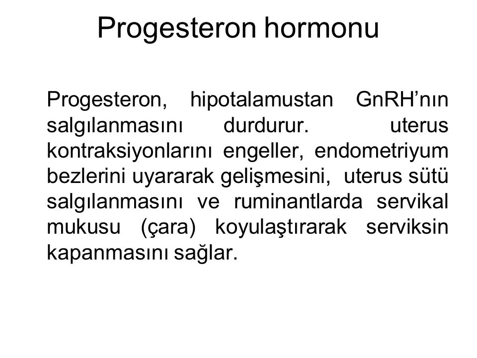 Progesteron hormonu
