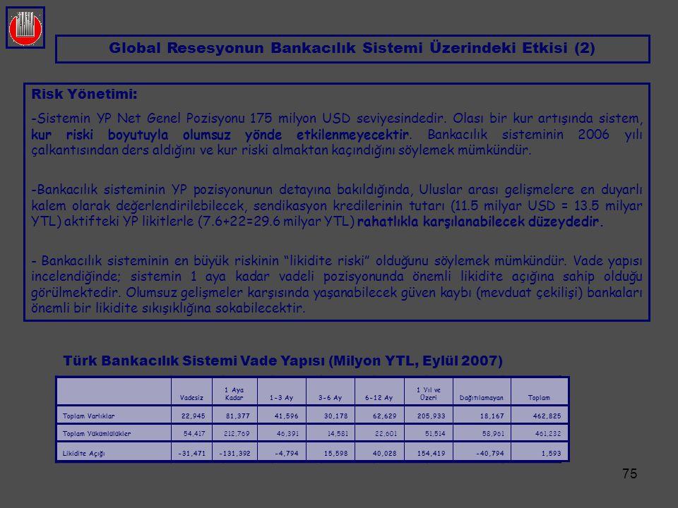 Global Resesyonun Bankacılık Sistemi Üzerindeki Etkisi (2)