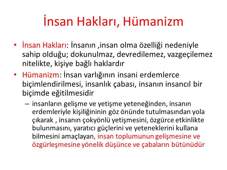 İnsan Hakları, Hümanizm