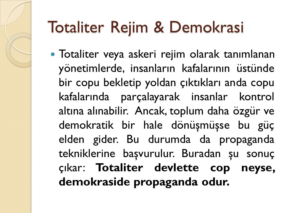 Totaliter Rejim & Demokrasi