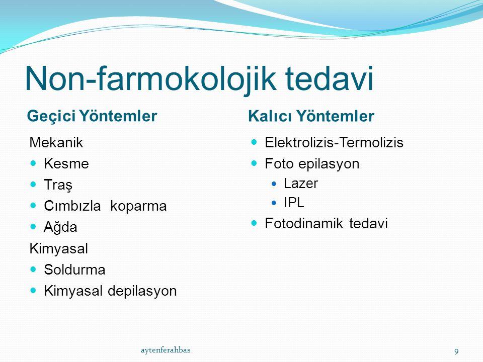 Non-farmokolojik tedavi