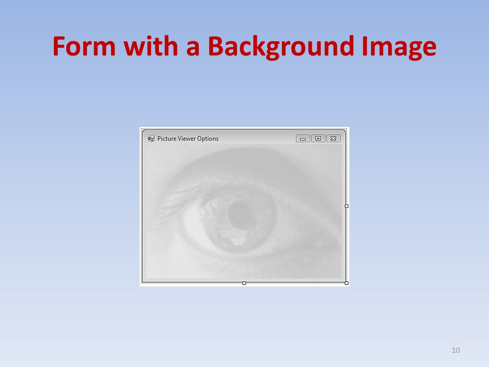 Form with a Background Image