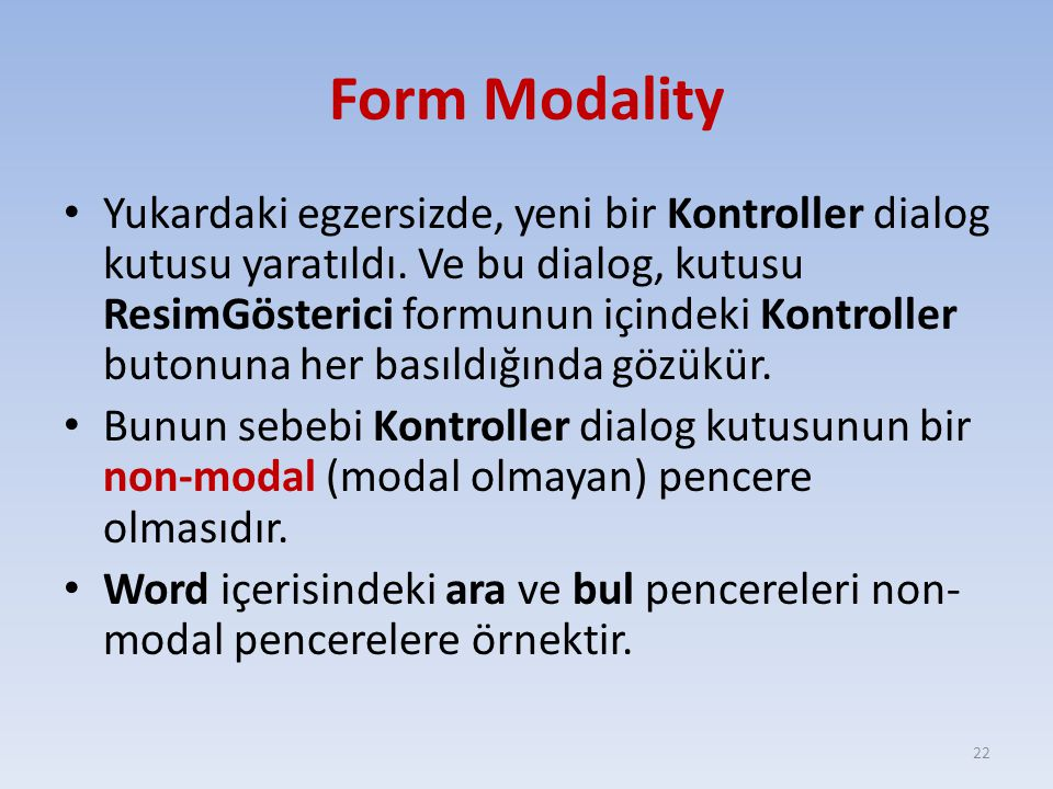 Form Modality