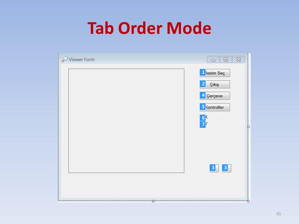 Tab Order Mode
