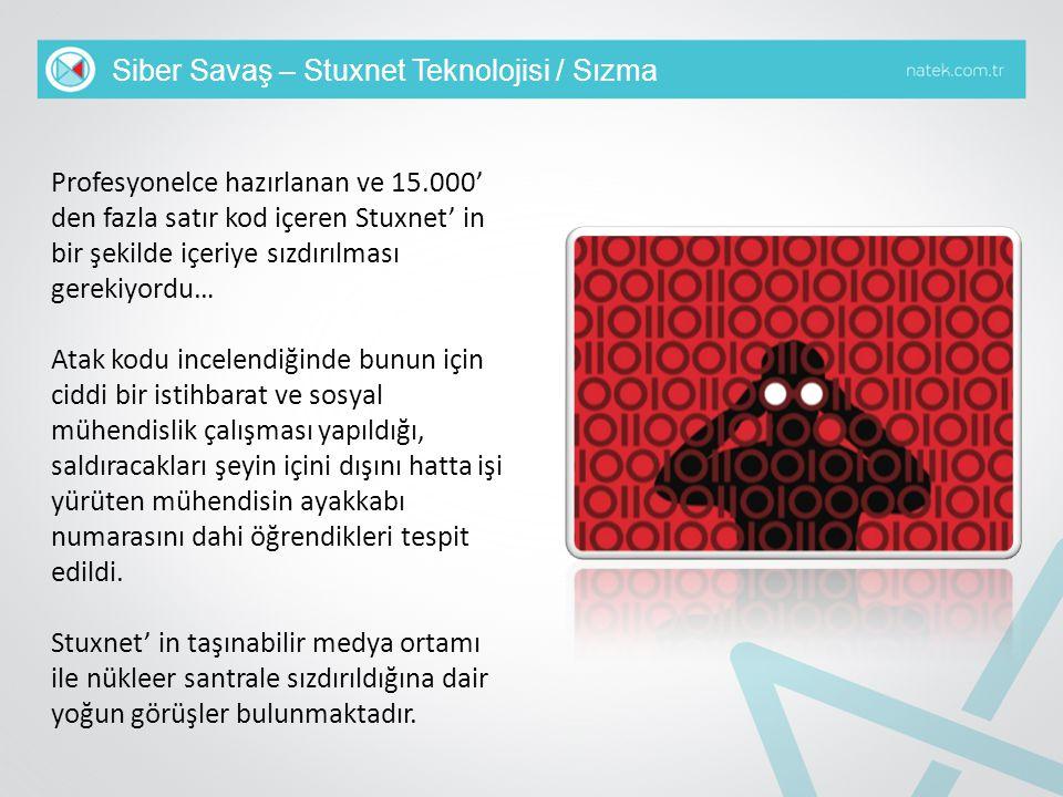 Siber Savaş – Stuxnet Teknolojisi / Sızma