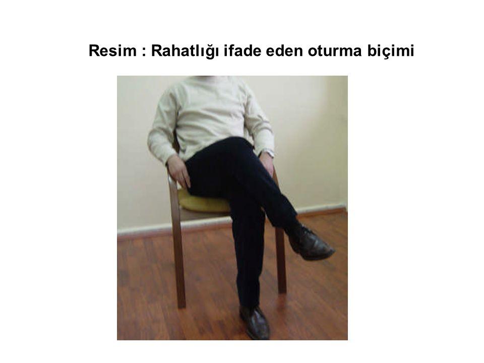 Resim : Rahatlığı ifade eden oturma biçimi