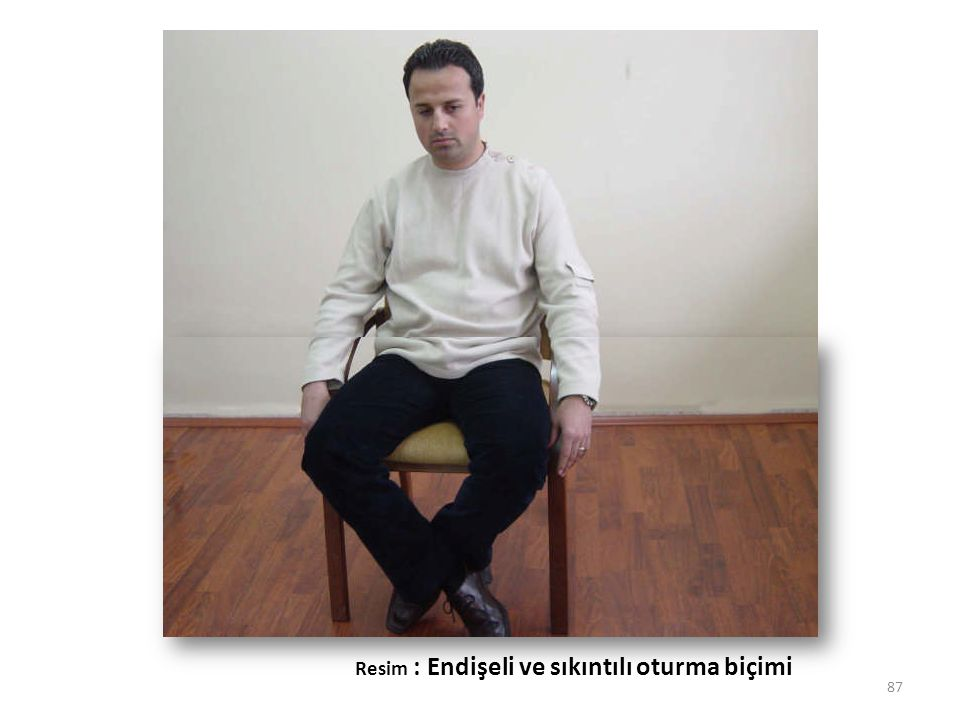 Resim : Endişeli ve sıkıntılı oturma biçimi