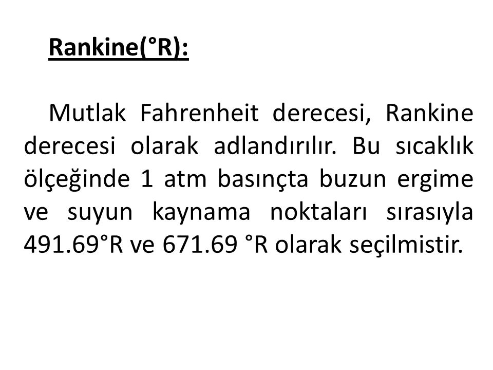 Rankine(°R):