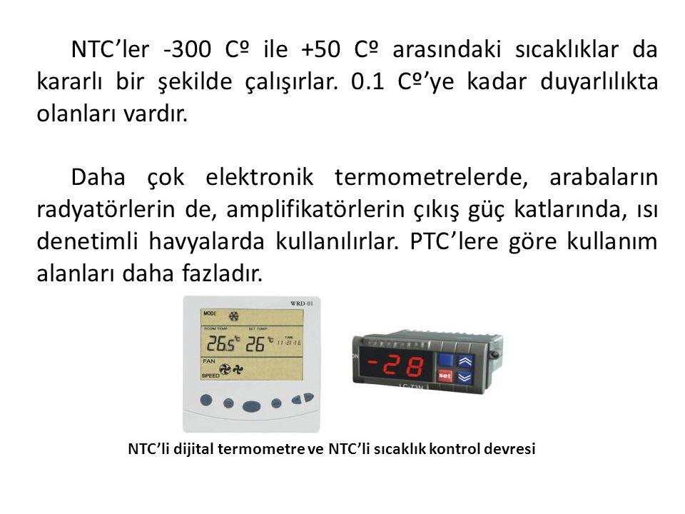 NTC'li dijital termometre ve NTC'li sıcaklık kontrol devresi