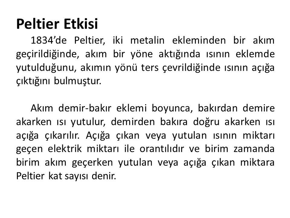 Peltier Etkisi