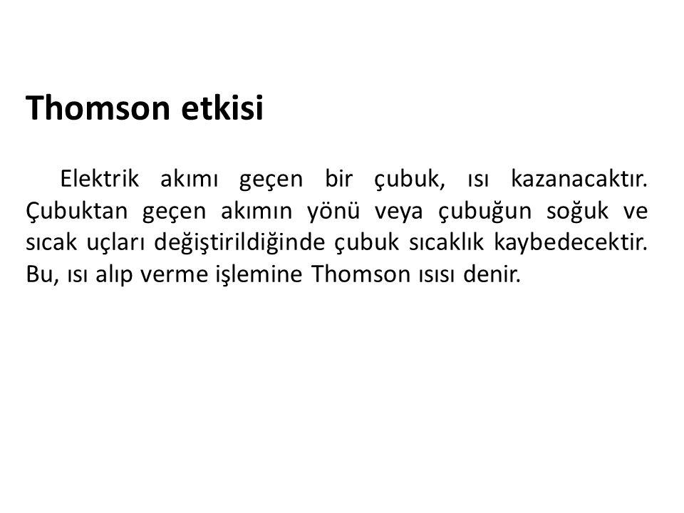 Thomson etkisi