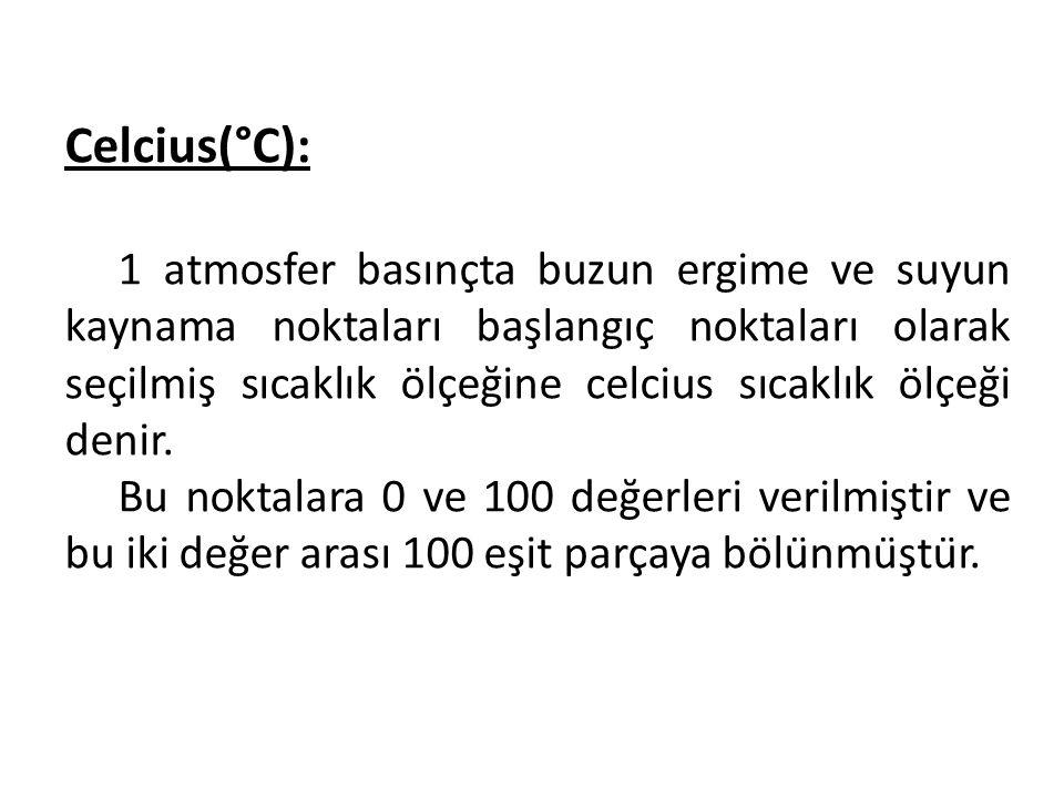 Celcius(°C):