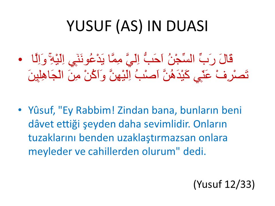 YUSUF (AS) IN DUASI