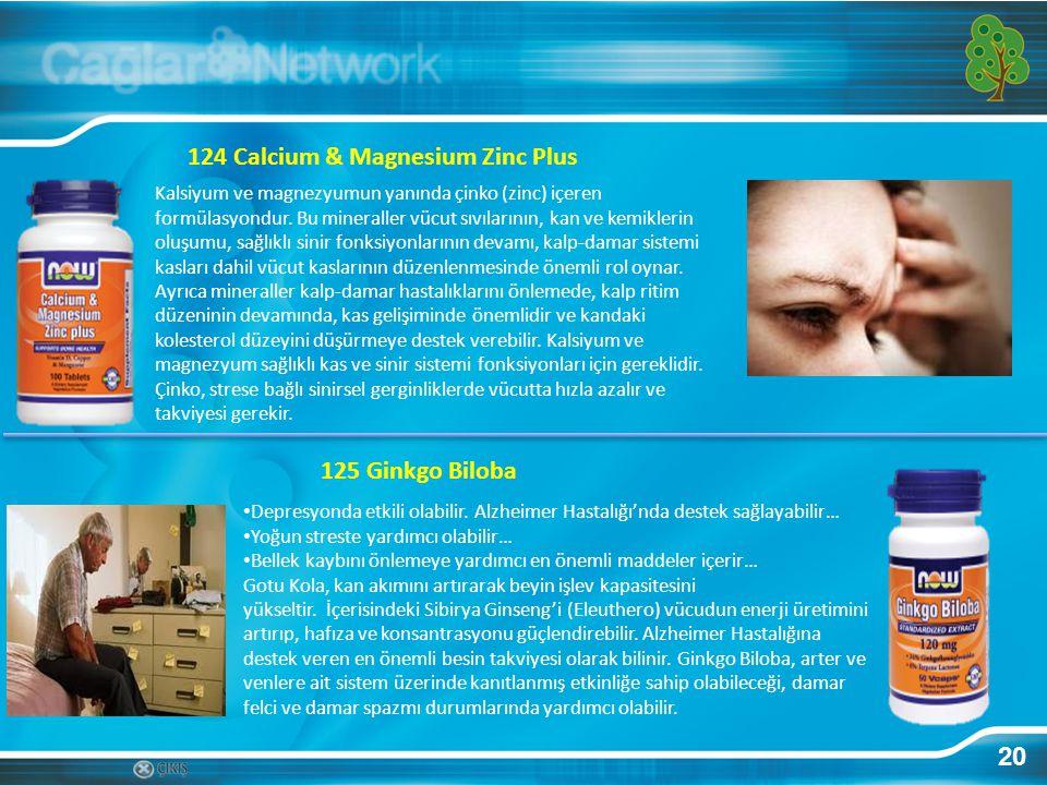 124 Calcium & Magnesium Zinc Plus
