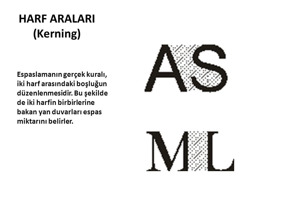 HARF ARALARI (Kerning)