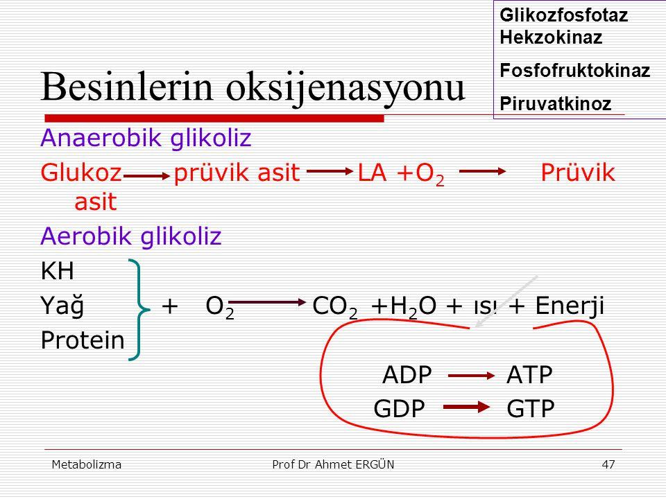 Besinlerin oksijenasyonu