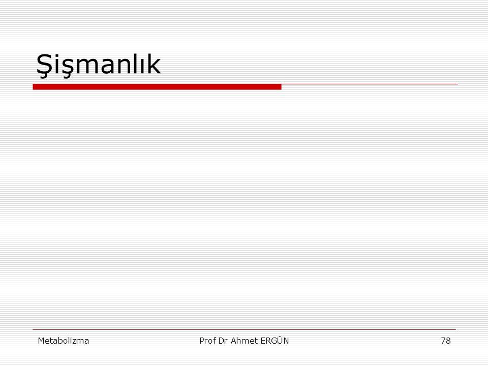 Şişmanlık Metabolizma Prof Dr Ahmet ERGÜN