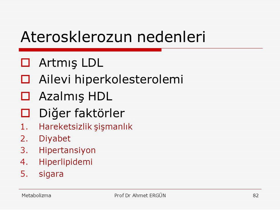 Aterosklerozun nedenleri
