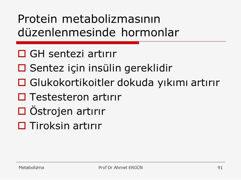 Protein metabolizmasının düzenlenmesinde hormonlar